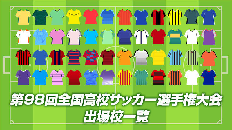 【第98回全国高校サッカー選手権】出場校一覧