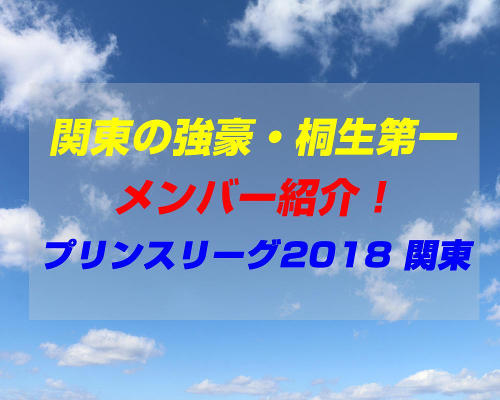 桐生第一高校サッカー部のメンバー紹介!(プリンスリーグ2018 関東)