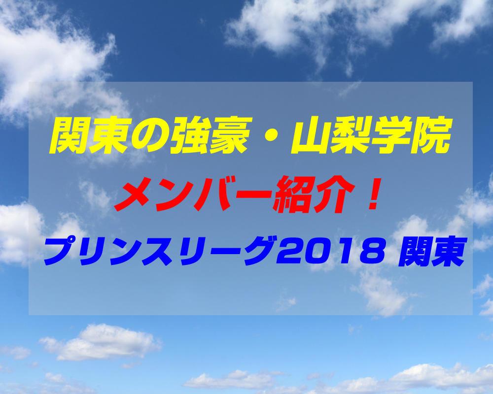 山梨学院高校サッカー部のメンバー紹介!(プリンスリーグ2018 関東)