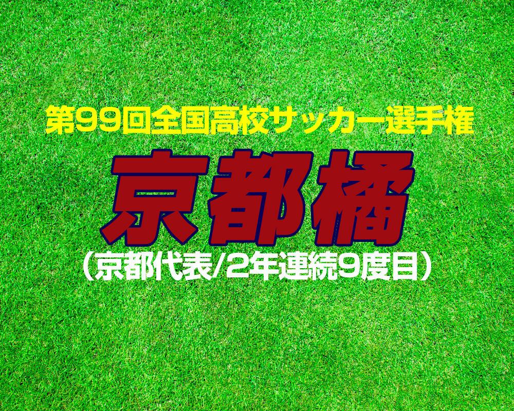 【第99回全国高校サッカー選手権】出場校紹介|京都橘(京都)【2020年】