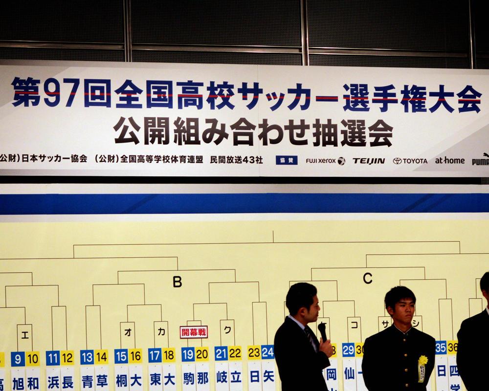 【第97回全国高校サッカー選手権】組み合わせ決定!