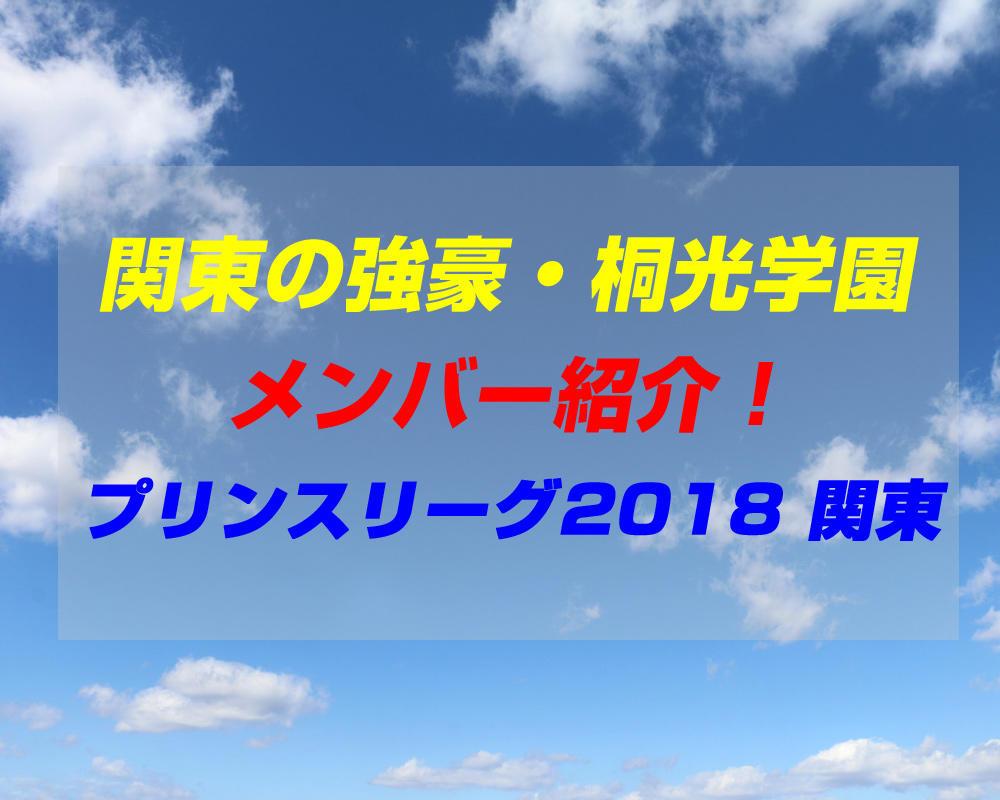 桐光学園高校サッカー部のメンバー紹介!(プリンスリーグ2018 関東)