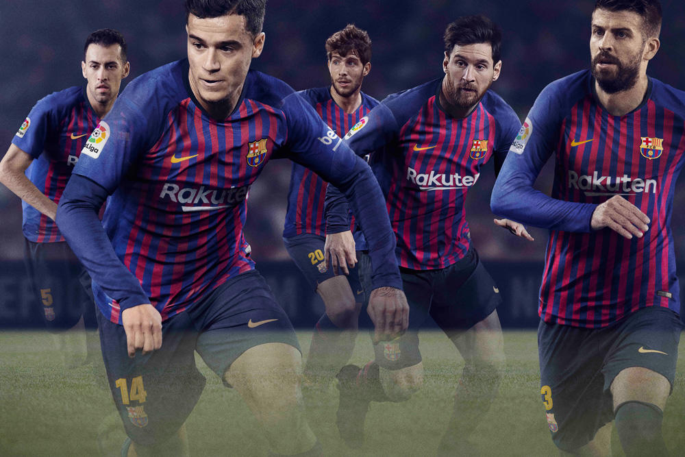 FCバルセロナ 2018-19ホームユニフォームがバルセロナ市の10の地区を結ぶ