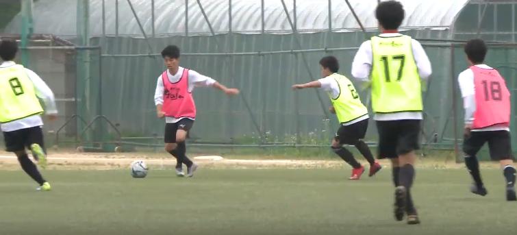 尚志高校サッカー部が取り組む守備のカバーリング練習-POCARI SWEAT SPECIAL SESSION-